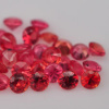 AAA Orange Red Sapphire Melee 2.5 mm round 1.00 carat lot