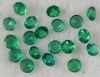 Colombian Green Emerald 3.00 mm Round 1 Carat Lot